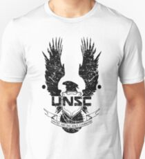 UNSC LOGO HALO 4 - GRUNT DISTRESSED LOOK Unisex T-Shirt