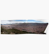 View over Cusco from Sacsayhuaman Poster