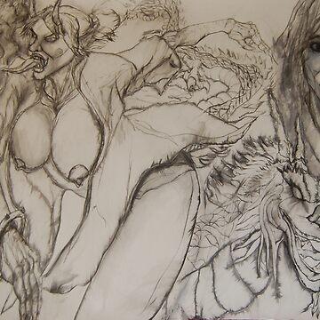 Horny Female Hannya by JosephTien