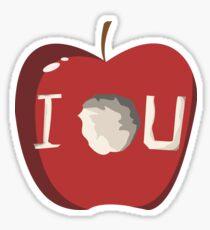 I O U Sticker