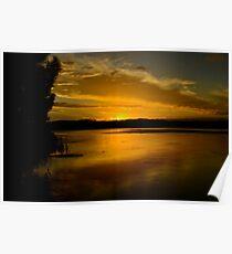 Coastal Sunset. (10-2-12) Poster