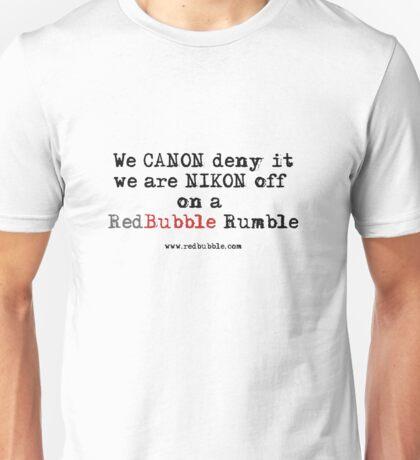 RB Rumble shirt ~ Canon deny (Black text) T-Shirt