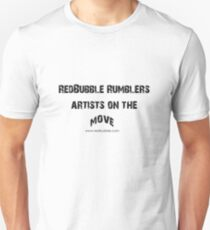 RB Rumble shirt ~ Artist on the move (black text) Unisex T-Shirt