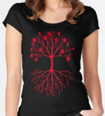 A tree that grows hearts Women's Fitted Scoop T-Shirt