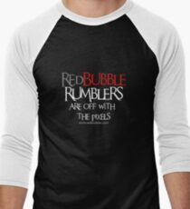 RB Rumble shirt ~ Off with the pixels (white text) Men's Baseball ¾ T-Shirt