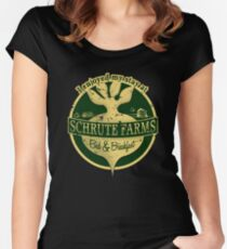 I enjoyed my stay at Schrute Farms (Green) Women's Fitted Scoop T-Shirt