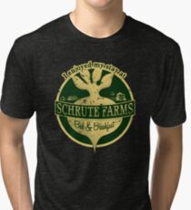 I enjoyed my stay at Schrute Farms (Green) Tri-blend T-Shirt