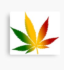 Reggae Cannabis Canvas Print
