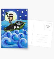 Eule und der Pussycat Postkarten