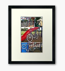 Fixie Playground Collage Framed Print