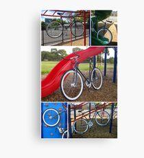 Fixie Playground Collage Canvas Print