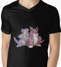 Beech Collection - Nidoking and Nidoqueen Men's V-Neck T-Shirt