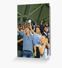Victorious Sports Fans Greeting Card