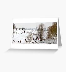 Mousehold Heath Sledging Greeting Card