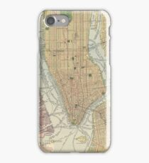 Old map of NYC iPhone Case/Skin