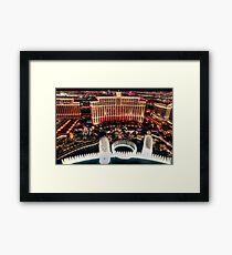 The Bellagio Fountains Framed Print