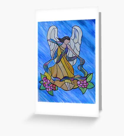 She Gathers.... Greeting Card
