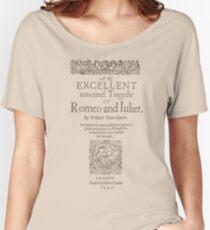 Shakespeare, Romeo and Juliet 1597 Camiseta ancha para mujer