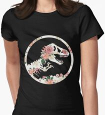Jurassic Floral Women's Fitted T-Shirt
