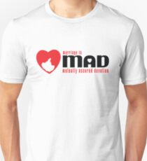 MAD MARRIAGE - Red Unisex T-Shirt