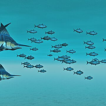 Two Blue Marlin  by Skyviper