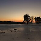 Hawley Lake Frozen Over by martin bullimore