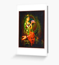 Kuan Yin And The Peacock Feather Greeting Card