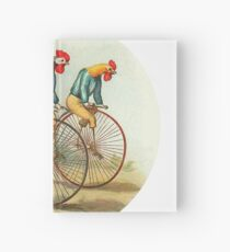 Chickens and Roosters on Big Wheel Bikes Hardcover Journal