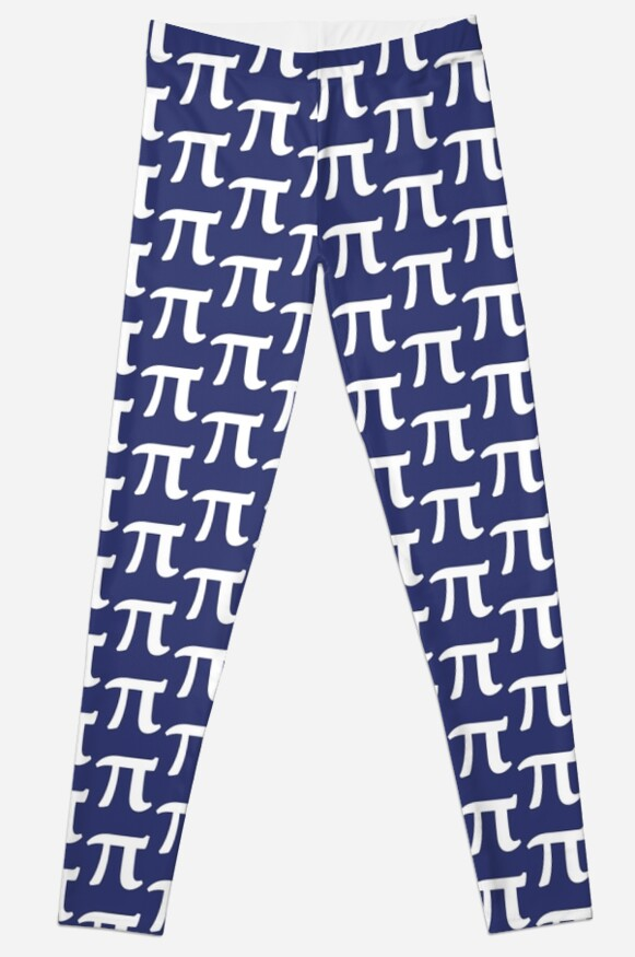 Pi Symbol For Pi Day Leggings By Bubbsnugg Lc Redbubble