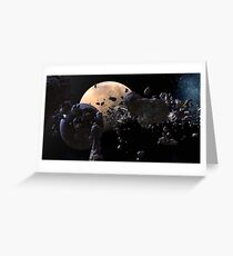 Astroid Mining Greeting Card
