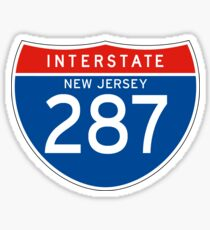 Interstate Sign 287 New Jersey, USA Sticker