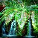 Aquarium Of The Americas Waterfall by Wanda Raines