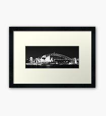 Sydney Harbour and Opera House Framed Print