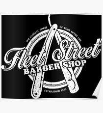 Fleet Street Barber Shop Poster