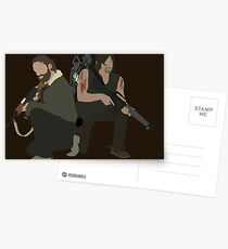 Daryl Dixon and Rick Grimes - The Walking Dead Postcards