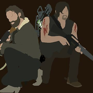 Daryl Dixon and Rick Grimes - The Walking Dead by mashuma3130