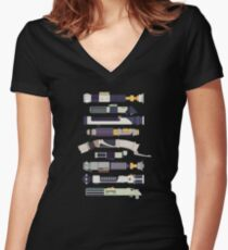 An Elegant Weapon Women's Fitted V-Neck T-Shirt