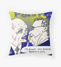 caricature options binaires - les deux Papa Grec Throw Pillow