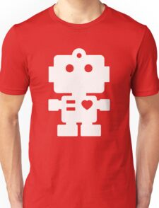 Robot - mageneta & white Unisex T-Shirt