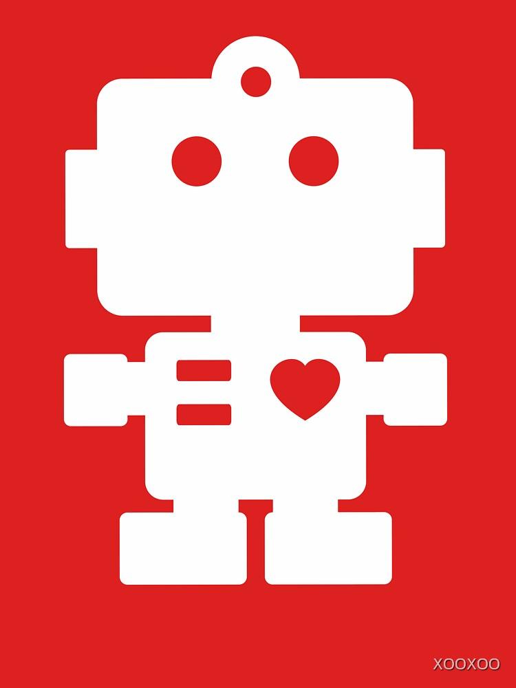 Roboter - Magenta und Weiß von XOOXOO