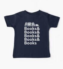 Books | Literary Book Nerd Helvetica Typography Baby Tee