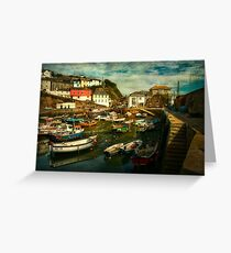 A corner of Mevagissey harbour Greeting Card