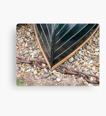 Fibre-glass clinker boat Canvas Print