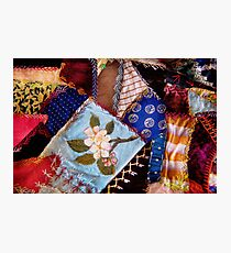 Sewing - Patchwork - Grandma's quilt  Photographic Print