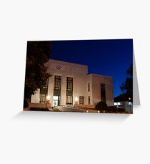 Cold Blue Courthouse Greeting Card