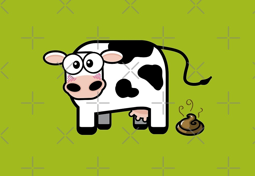 Funny Pooping Cow by Lisa Marie Robinson