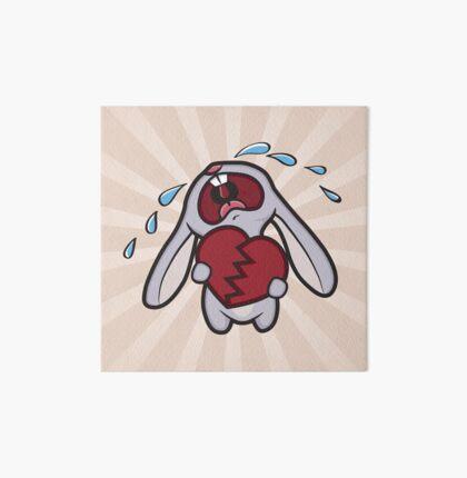 Broken Hearted Bunny Art Board