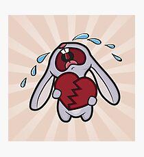 Broken Hearted Bunny Photographic Print