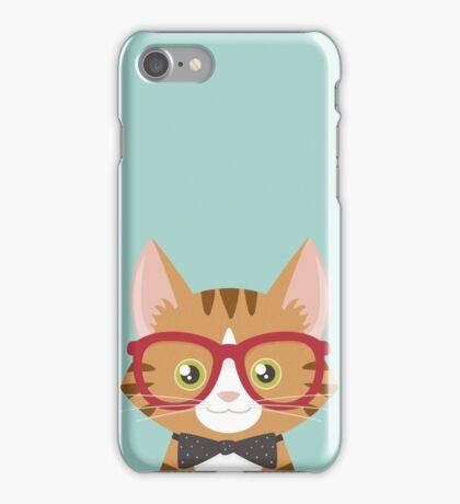 Orange Tabby Hipster Cat iPhone Case/Skin
