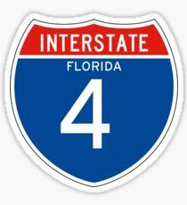 Interstate Sign 4 Florida, USA Sticker